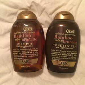 OGX brunette shampoo and conditioner
